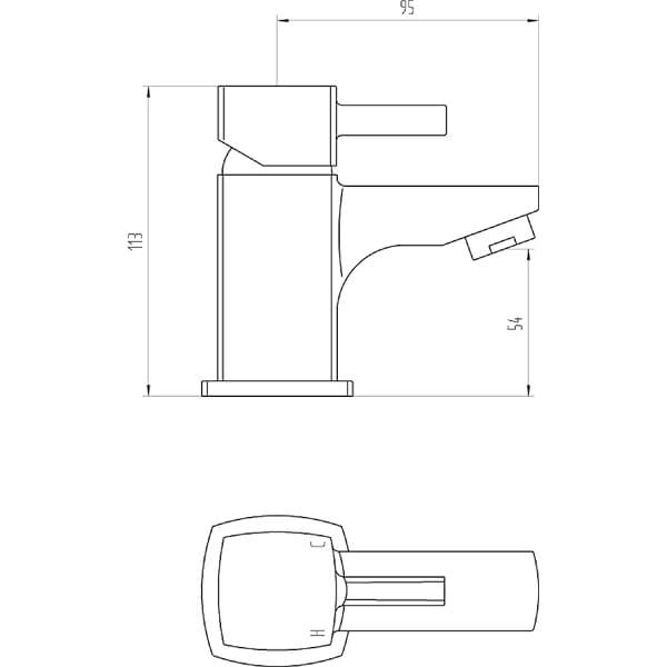 Technical drawing B3-28070 / BIQCX10
