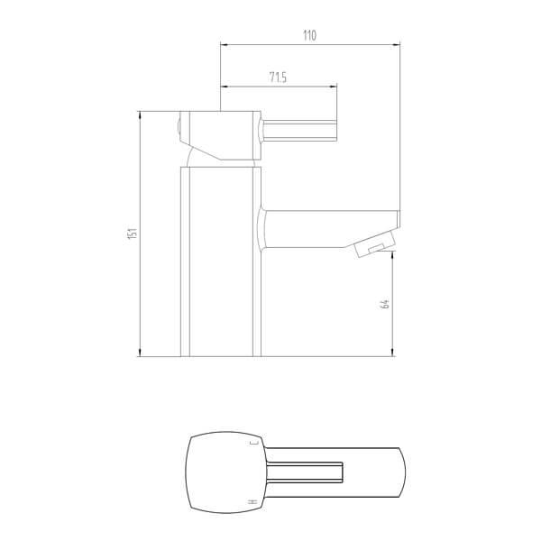 Technical drawing B3-28071 / BIQCX03