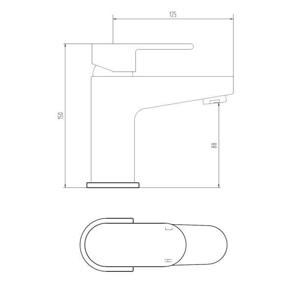 Technical drawing B3-28073 / BIQCA03