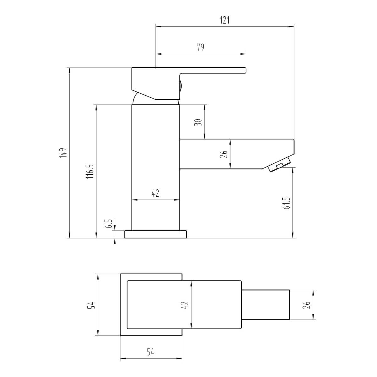 Technical drawing B3-28074 / BIQCB03