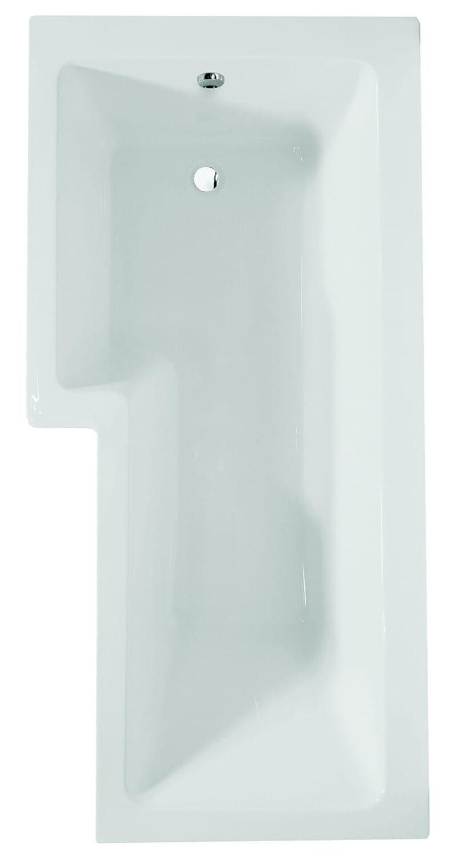 Frontline Blok 1500 x 850mm L-Shaped Shower Bath - Left Hand ...