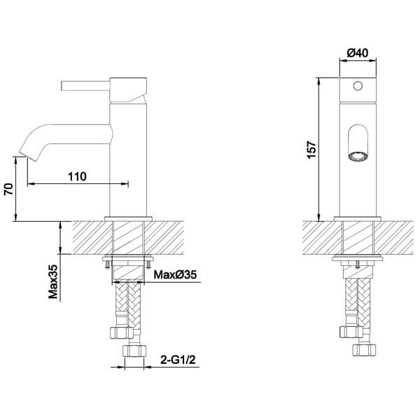 Technical drawing B3-28051 / S917-0100