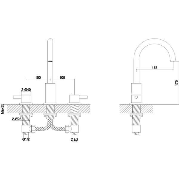 Technical drawing B3-28052 / S917-1000