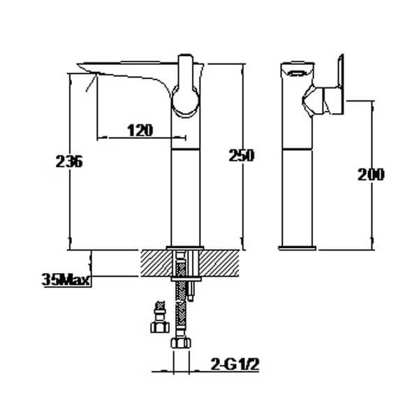 Technical drawing B3-28055 / S821-0300