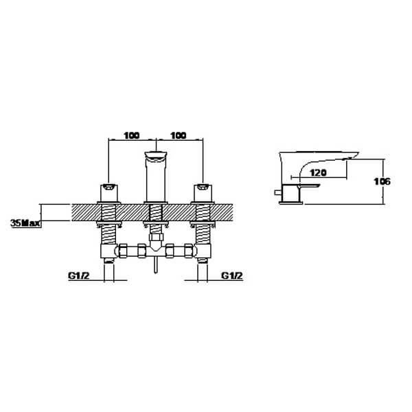 Technical drawing B3-28056 / S821-1000