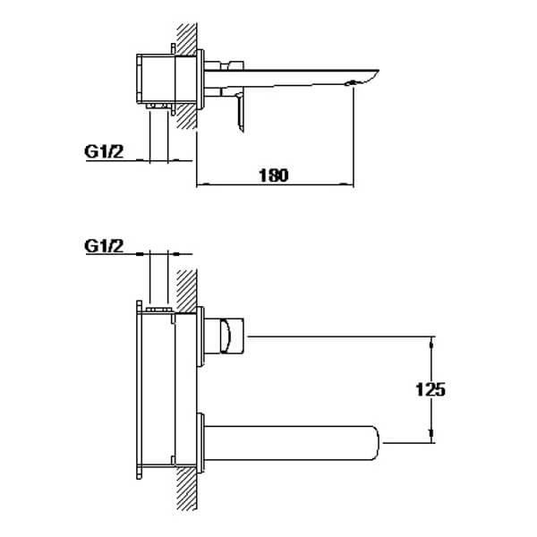 Technical drawing B3-28057 / S821-1700