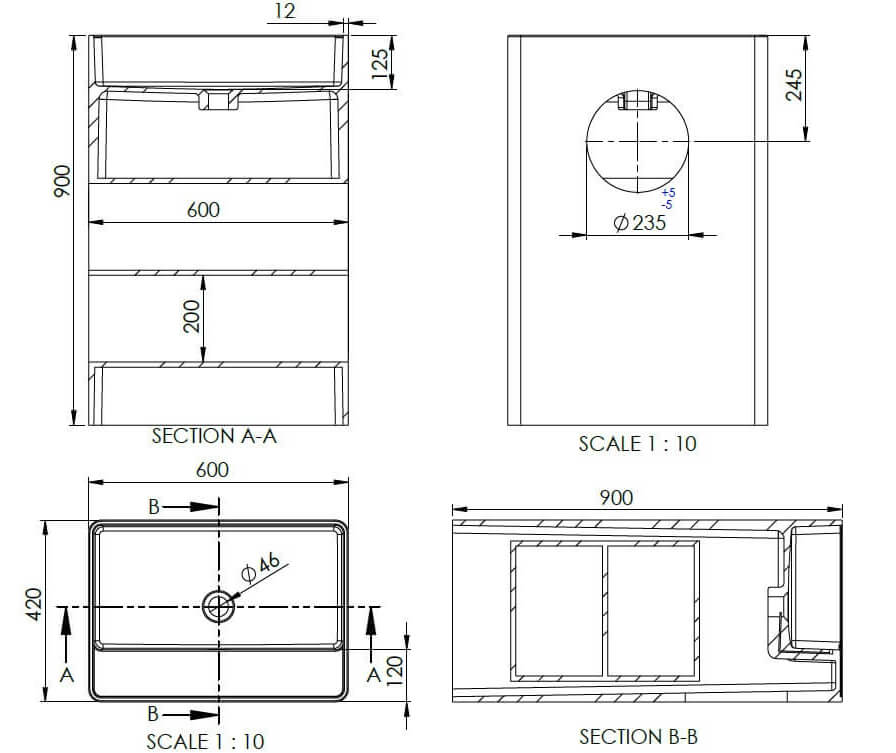 Technical drawing B3-19625 / SI855833WS