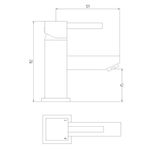 Technical drawing B3-28059 / BIQIX03