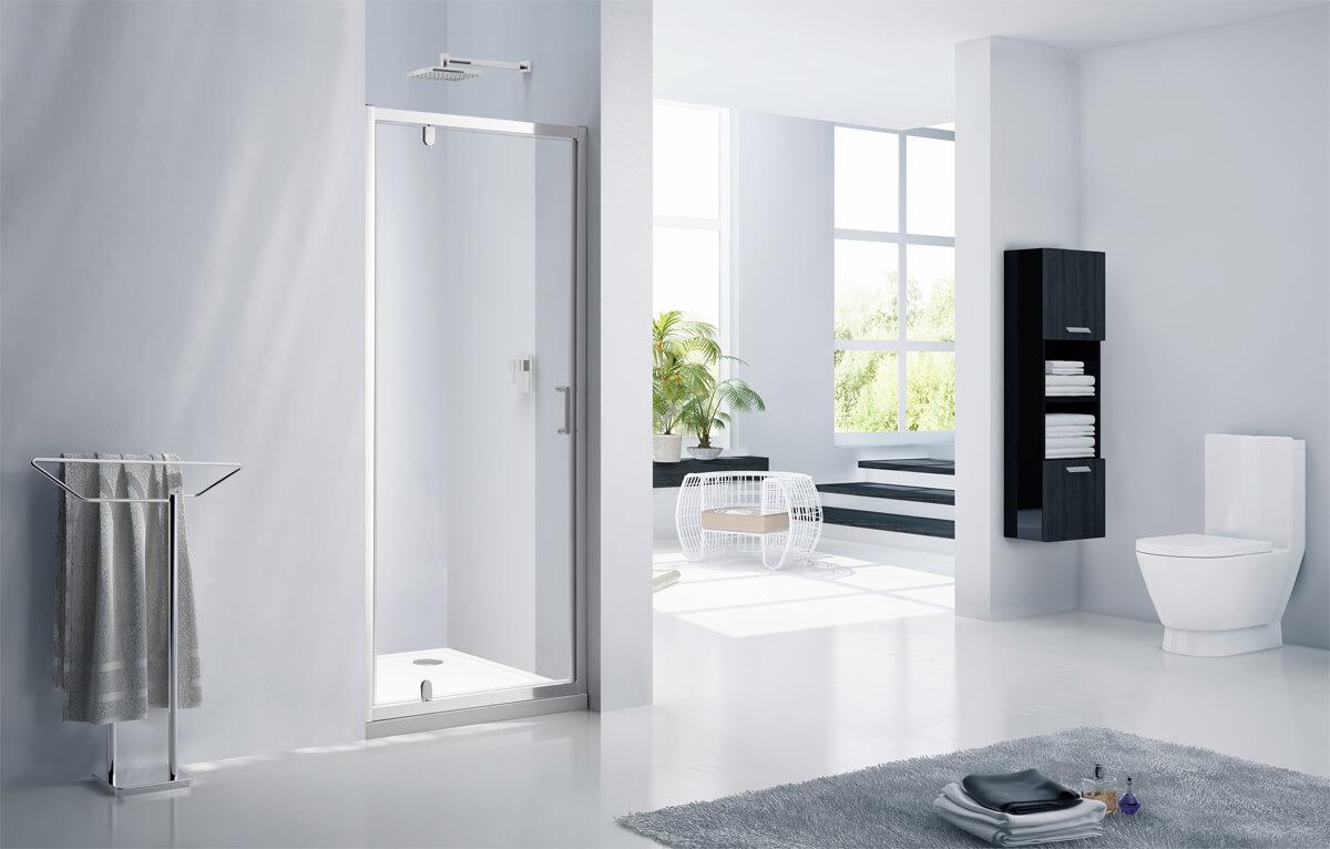 Frontline Aquaglass Purity 6mm Pivot Shower Door Width 760 800