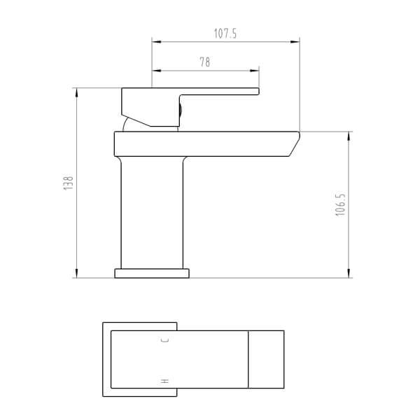 Technical drawing B3-28064 / BIQSK03