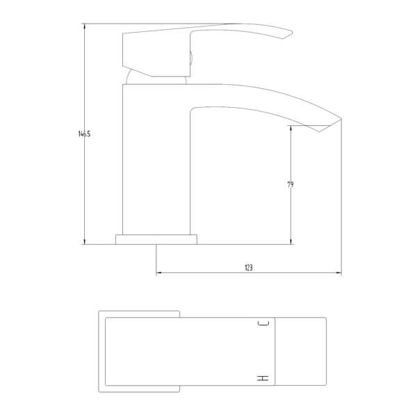 Technical drawing B3-28083 / BIQPU03