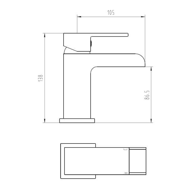 Technical drawing B3-28081 / BIQSM03