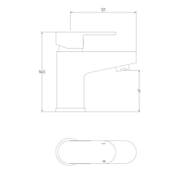 Technical drawing B3-28085 / BIQSP03