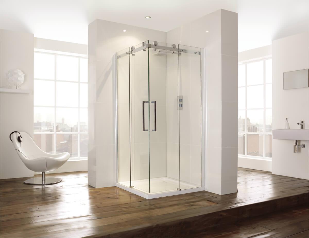 Frontline Aquaglass+ 8mm Frameless Corner Entry 900 x 900mm Shower ...