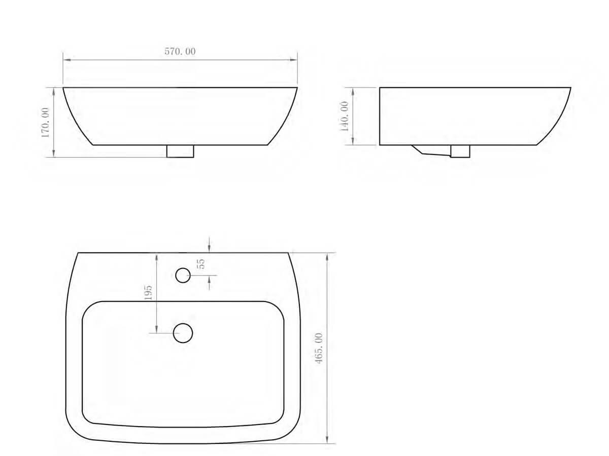 Technical drawing B3-14948 / BIQR28BAS55