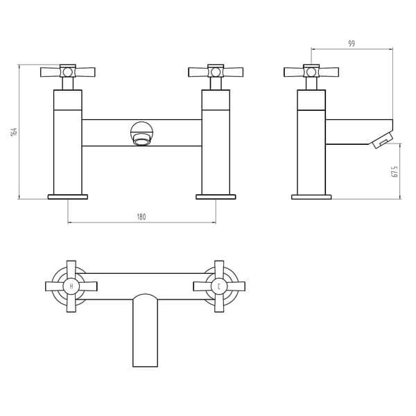 Technical drawing B3-28150 / BIQFX02