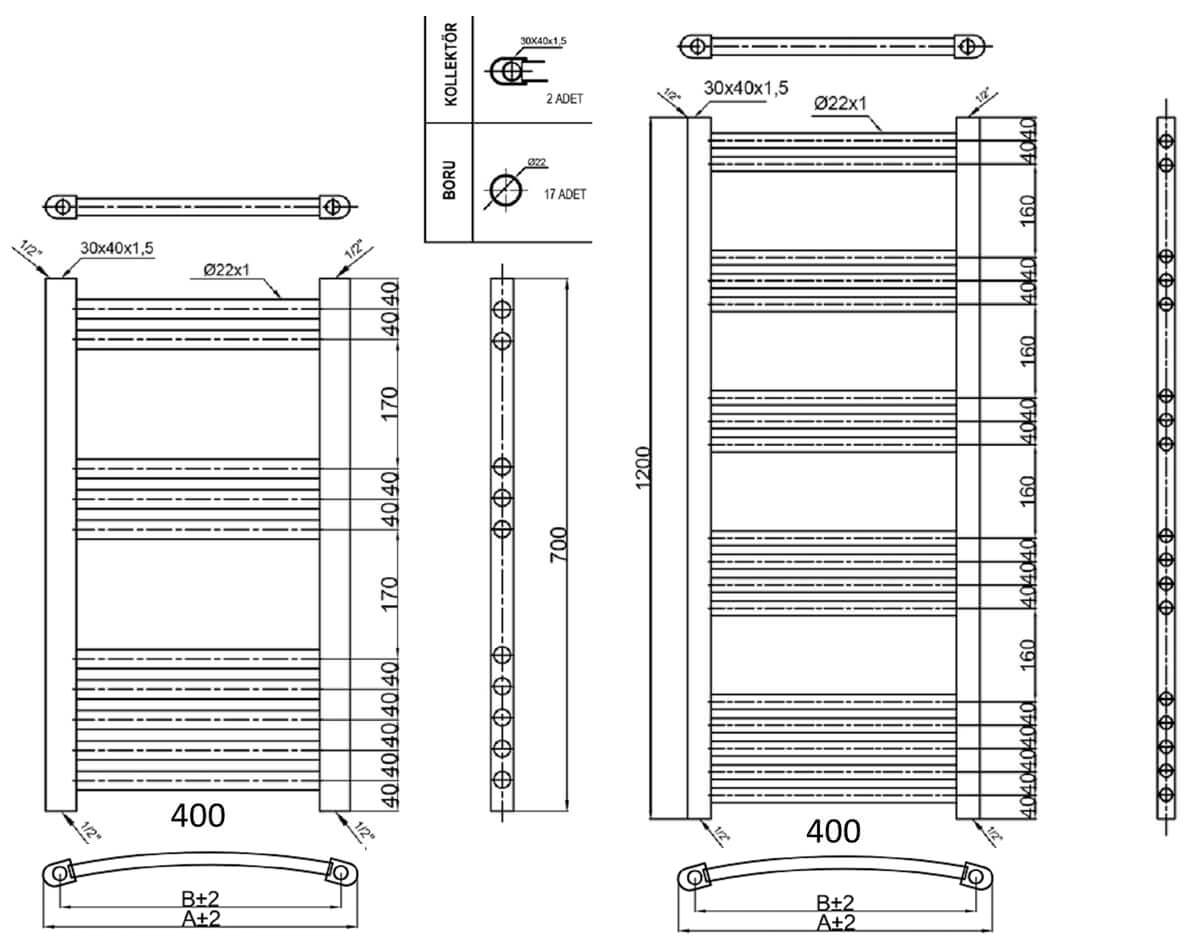 Technical drawing B3-30591 / PICC8040